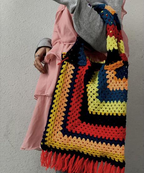【RE;CIRCLE】 Granny Knit Bag ② /210125-0012