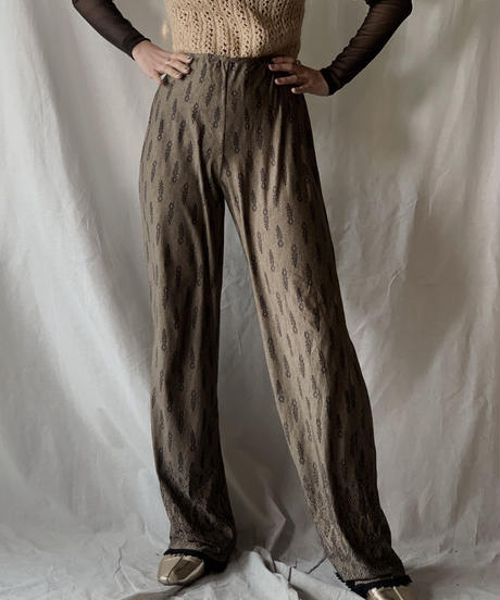 【USED】Lace Patterned Poly Pants/210217-051