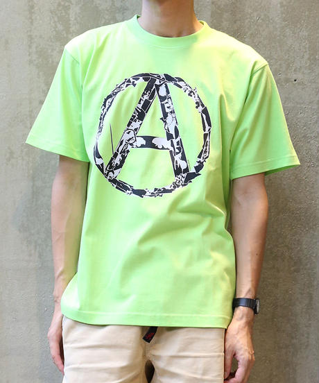 [montage] 森別注  Anarchy SS T-shirt (Lime)