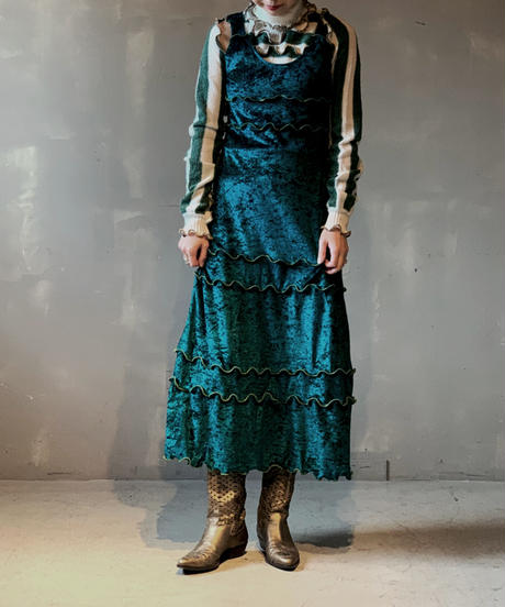 【RE;CIRCLE】N/S Mellow Velor Dress / 201103-005