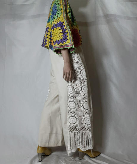 【RE;CIRCLE】 RE Granny Knit S/S Top②/210917-016