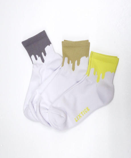 【LIXTICK】3P Sox (Yellow/Sand/Gray)