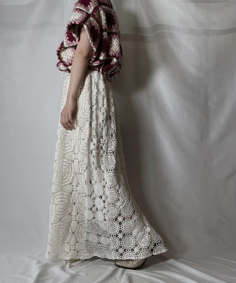 【RE;CIRCLE】 RE Granny Knit×Lace S/S One-piece/210917-010