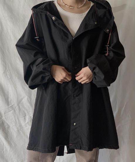 【USED】 Dyed Black US Snow Hoodie  /201020-019