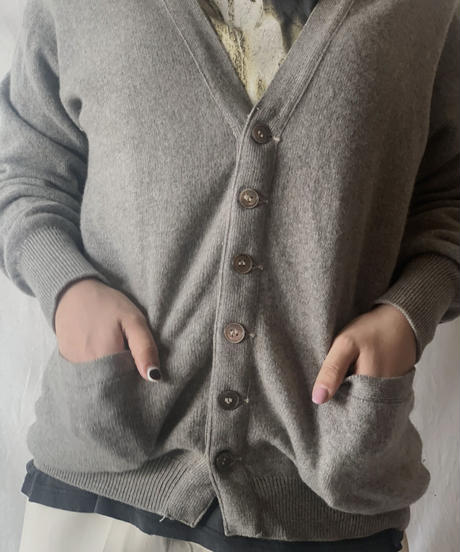 【USED】 Cashmere Knit Cardigan /210303-004
