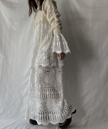 【RE;CIRCLE】 RE Alan Knit ×Crochet One-piece③/211008-006
