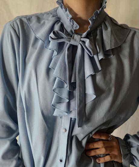 【USED】Poly Blouse Shirt/210217-042