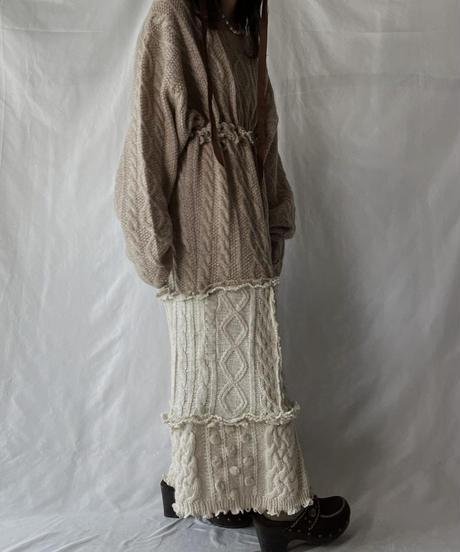 【RE;CIRCLE】 RE Alan Knit One-piece/211008-007