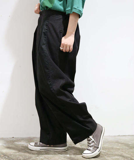 [REMAKE] ARMY WIDE PANTS (BLACK)
