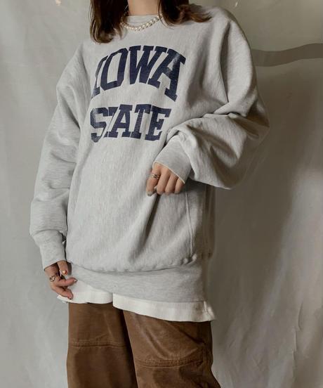 【USED】 90's USA Champion Reverse Weave Sweat IOWA / 210127-018
