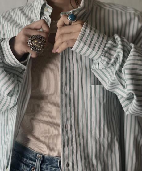 【USED】 Brooks Brothers L/S Strip Shirt 12/210624-015
