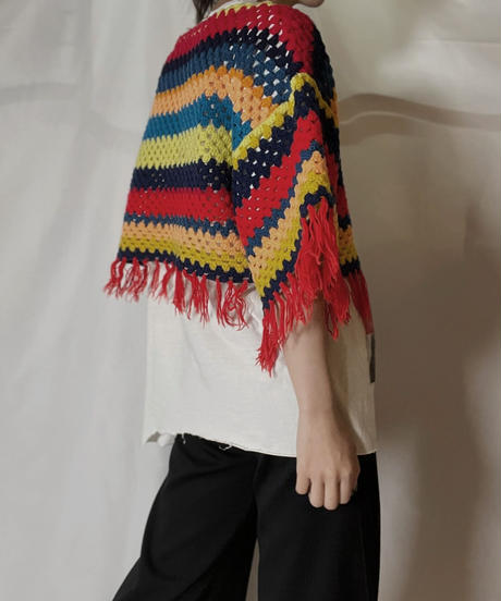 【RE;CIRCLE】 RE Granny Knit S/S Top①/210917-015