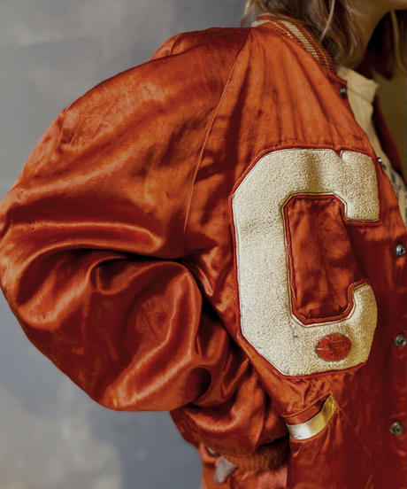 【USED】Nylon Stadium Jacket / 201104-037