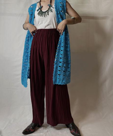 【USED】 Poly Pleats Pants/20210819-015