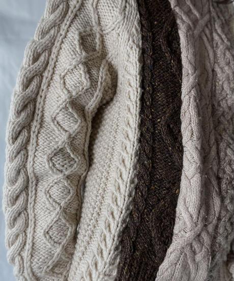 【RE;CIRCLE】 RE Alan Knit Patch Work Top④/211008-023