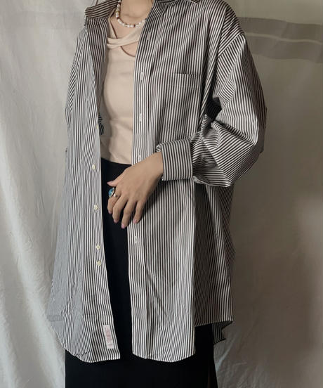 【USED】 Brooks Brothers L/S Strip Shirt 14/210624-017