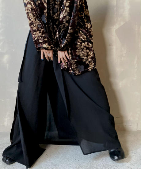 【USED】 Poly Long Skirt / 201204-007
