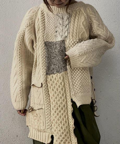 【RE;CIRCLE】 Patchwork Aran Knit ⑧ /210106-011