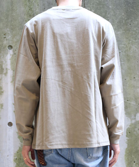[Goodwear] Long sleeve T-shirt (Beige)