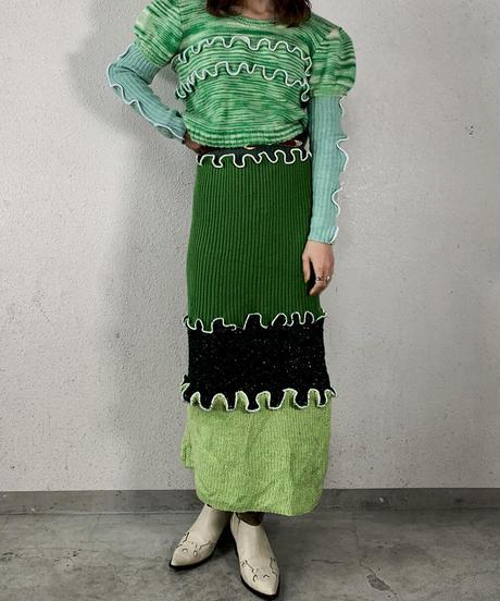 【RE;CIRCLE】 Mellow  Knit Skirt ② / 210106-022