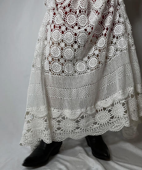 【RE;CIRCLE】 RE Granny Knit×Lace N/S One-piece②/210917-009