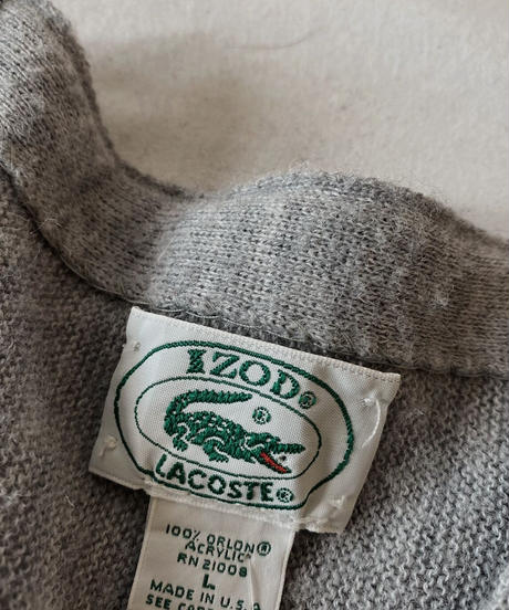 【USED】   LACOSTE Knit Cardigan⑥/210930-040