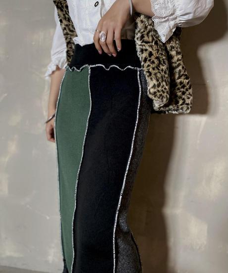 【RE;CIRCLE】 Mellow Rib Knit  Long Skirt ③