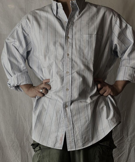 【USED】 Brooks Brothers L/S Strip Shirt④/210624-007