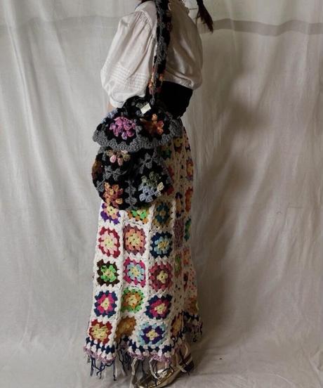 【RE;CIRCLE】 Granny Knit Bag③/210404-014
