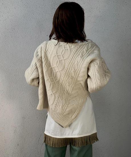 【RE;CIRCLE】 Diagonal  Aran Knit /210106-019