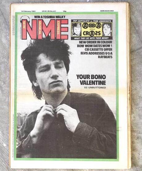 NME(14/february/1981:表紙BONO/U2)