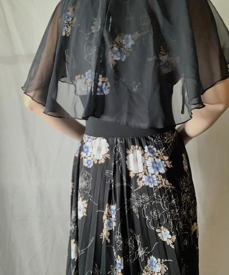 【USED】 EURO Poly Flower Patterned N/S Dress/210714-034