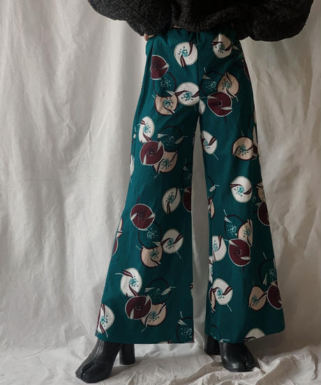 【USED】Patterned Poly Flared Pants/210203-011