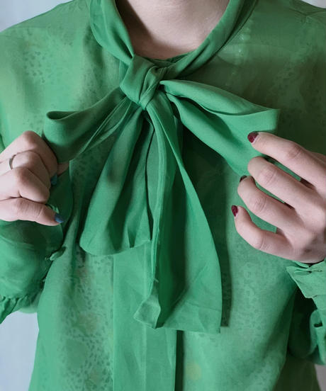 【USED】 See-through Poly Blouse/210331-028