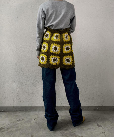 【RE;CIRCLE】 Granny Knit Mini Skirt ① /210125-002