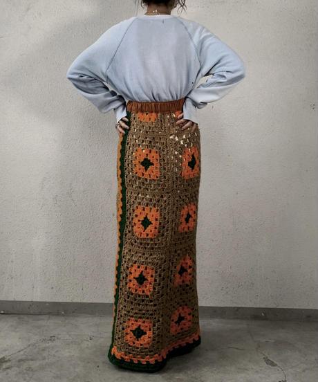 【RE;CIRCLE】 Granny Knit Long Skirt ② /210125-009
