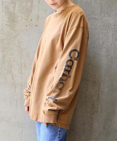 [USED] LONG SLEEVE Carhartt T-SHIRT (BROWN)