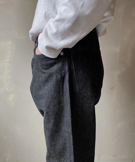 "【THE UNION】Big ""T"" Black Denim Pants【THE BLUEST OVERALL】 /T000006"