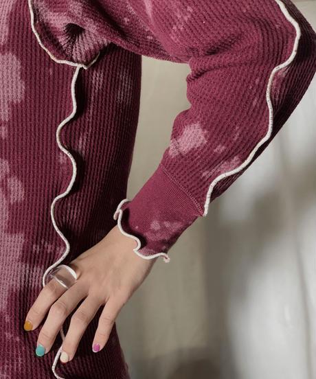 【RE;CIRCLE】 RE  Tie dye Thermal Mellow L/S Top /210708-021