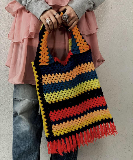 【RE;CIRCLE】 Granny Knit Bag ③ /210125-0013