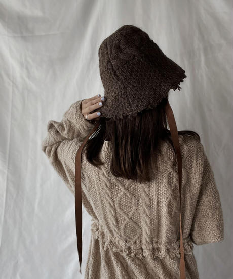 【RE;CIRCLE】 RE Alan Knit Bucket Hat②/211008-032