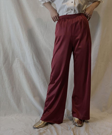 【USED】Satin Easy Pants②/210217-055