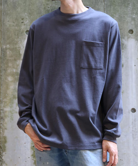 [Goodwear] Long sleeve T-shirt (Charcoal)