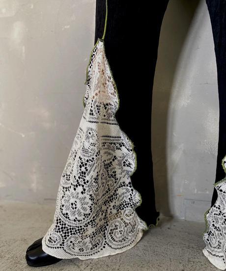 【RE;CIRCLE】 Mellow Spandex × Lace Pants / 201103-011