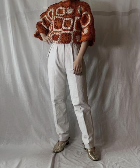 【RE;CIRCLE】 Short Sleeve Granny Knit Top③ /210404-003
