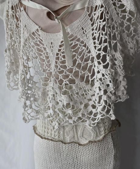 【RE;CIRCLE】 RE Alan Knit × Crochet Top①/211008-008