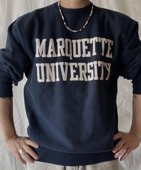 【USED】 90's USA Champion Reverse Weave MARQUETTE①/210324-018