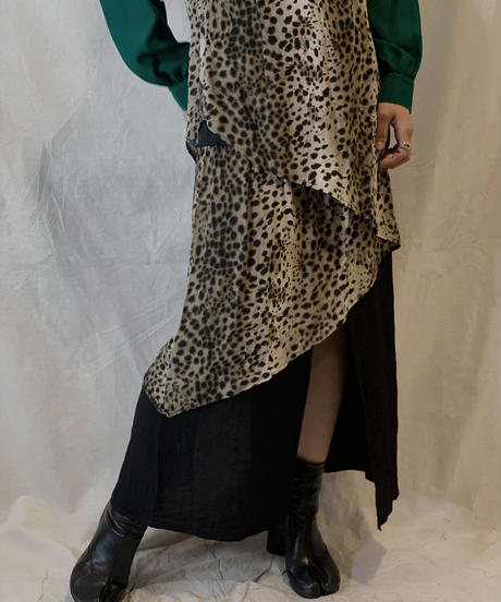 【USED】Leopard Patterned No Sleeve All In One/210217-058