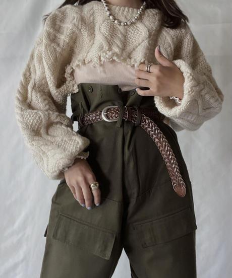 【RE;CIRCLE】 RE Alan Shirt Knit Top②/211008-019