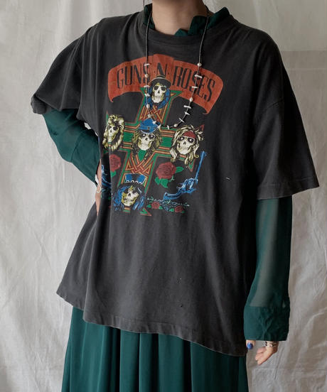 【USED】  Band T-shirt GUNS・N・ROSES/210407-028